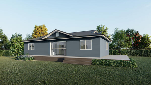 Three bedroom house plan