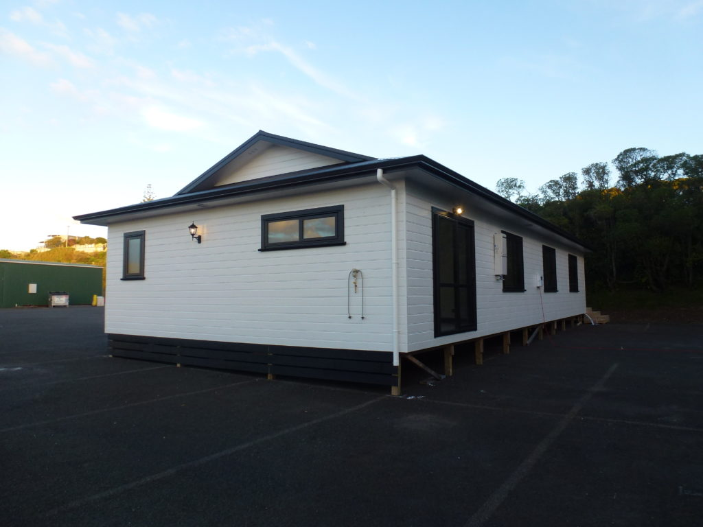 Finished prefab home ready for delivery