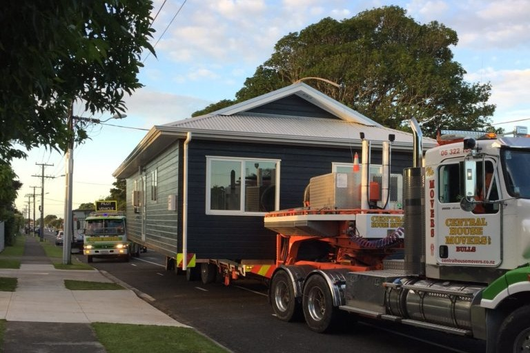 Home being delivered to site