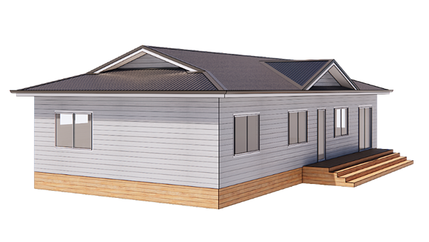 Dutch Gable with Side Gable roof style